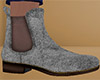 Silver Chelsea Boots 2 M