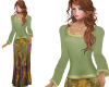 TF* Modest Green outfit