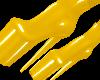B! Yellow PVC Heels
