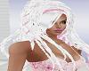 White Dreadlocks w Pink