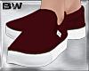 Burgundy Slip On Shoes