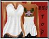 BBW White Winter Top
