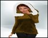 Holiday SweaterHood Gold
