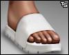 Ts. White Slides. F