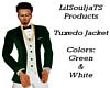 Tuxedo Top Green & White