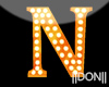 N Orange Neon Lamps