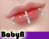 ! BA 3 Silver Lip Rings