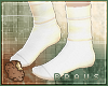 B| Simple white socks