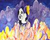Panda Glass Painting