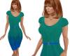 TF* Green & Blue Dress