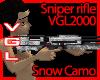 VGL2000 Sniper Snow camo
