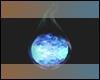 Blue Kitsune Fox Fire
