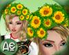 ~Ae~WreathHair Sunflower