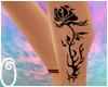 leg rose tattoo (left)
