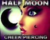 Half Moon Cheek Piercing