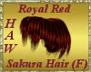Royal Red Sakura Hair
