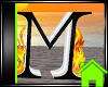 ! Animated Fire Letter M