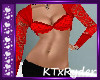 {KT} Red Lace Crop