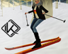 !A poses for skier