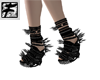 ~F~ BlkSpikey Arty shoes