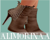 *A* Brown Fall Booties