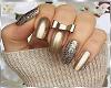 Gold nails & Ring