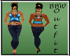 BBW Leana Outfit Blue