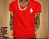S| Polo VNeck Red