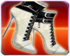 White Furry Dress Boots
