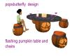 flashing pumpkin table
