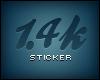 !F 1.4k Sticker