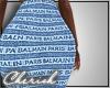 ♛ | Denim Logo Skirt