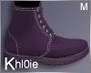K Purple Fall boots M