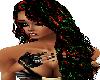Black,Red & Green Hair