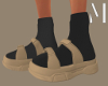 Tan Sandals + Socks