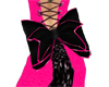 Black Bow w/ Pink Accent