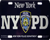 NYPD car tag