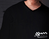 Black vneck longsleeves.