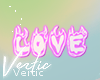 V ! Love Sticker