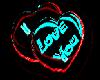 Neon I Love You Hearts