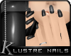 K| Lustre Nails: Black