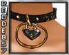 Gold Heart Collar