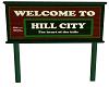 * J * HILL CITY TOWN SGN