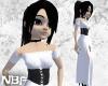 White corselet dress