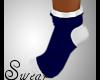 girls blue/white socks