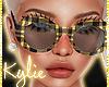Yellow Plaid Glasses