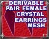 Fem Crystl Earrings Mesh