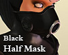 Rubber Half Mask F Black