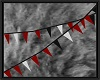 RED BLACK PENNANT FLAGS