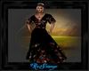 robe black fleur
